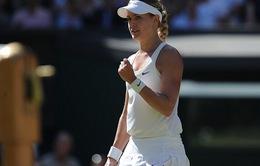 Vượt mặt đàn chị Halep, Bouchard hẹn Kvitova ở CK Wimbledon