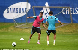 Diego Costa và Fabregas hào hứng với buổi tập đầu tiên ở Chelsea