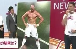 Ronaldo tiết lộ bí quyết tập gym trên truyền hình Nhật