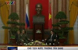 Chủ tịch nước tiếp Bộ trưởng Quốc phòng LB Nga
