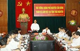 Thủ tướng thăm và làm việc tại Thái Nguyên