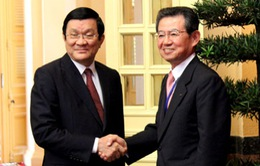 Chủ tịch nước tiếp đoàn hợp tác kinh tế Kansai-Nhật Bản