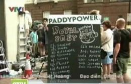 """""""Sốt"""" thị trường cá cược về em bé Hoàng gia"""
