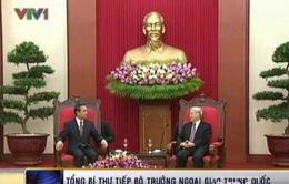 Tổng Bí thư tiếp Bộ trưởng Ngoại giao Trung Quốc Vương Nghị