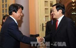 Chủ tịch nước tiếp Tỉnh trưởng tỉnh Fukuoka - Nhật Bản