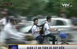 Xe đạp điện tung hoành trên phố