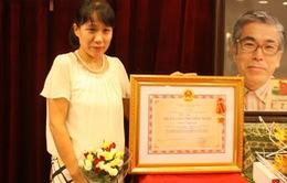 Truy tặng Huân chương Hữu nghị cho cố TS Nishimura
