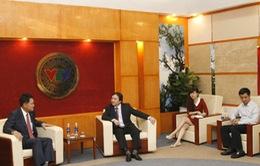Phó Tổng Giám đốc Phạm Việt Tiến tiếp xã giao đại diện Đài KBS