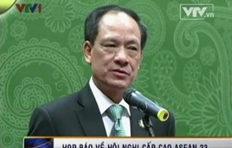Tổng thư ký ASEAN Lê Lương Minh họp báo