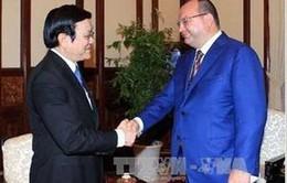 Chủ tịch nước tiếp Tổng giám đốc Hãng ITAR-TASS
