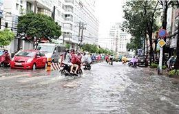Áp thấp nhiệt đới gây ngập lụt ở nhiều nơi