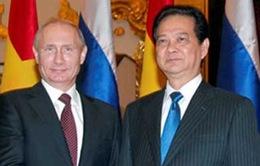 Thủ tướng Nguyễn Tấn Dũng hội kiến Tổng thống Nga Putin