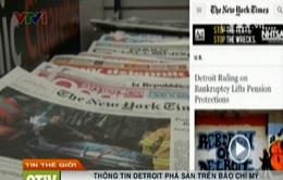 Thông tin TP Detroit phá sản tràn ngập trên báo Mỹ