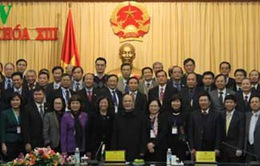 Chủ tịch Quốc hội gặp mặt các đại diện ngoại giao