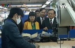 Bí thư Thành ủy Hà Nội thăm Tổng công ty May 10