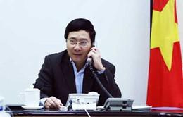 Phó Thủ tướng Phạm Bình Minh điện đàm với Ủy viên Quốc vụ Trung Quốc Dương Khiết Trì