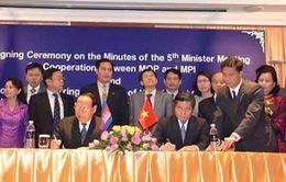 Việt Nam - Campuchia tăng cường hợp tác kế hoạch và đầu tư