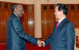 Thủ tướng Nguyễn Tấn Dũng tiếp Đại sứ Sudan