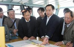 Phó Thủ tướng Hoàng Trung Hải kiểm tra một số dự án tại Hải Phòng