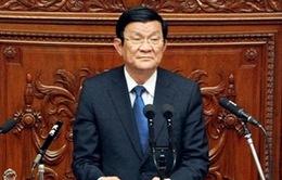 Chủ tịch nước phát biểu tại Quốc hội Nhật Bản