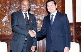 Chủ tịch nước tiếp Tổng thư ký Hiệp hội Chữ Thập đỏ thế giới