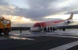 Máy bay chở khách hạ cánh bằng bụng tại Brazil