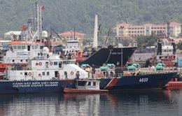 Tàu Cảnh sát biển bị Trung Quốc đâm đã sẵn sàng ra khơi