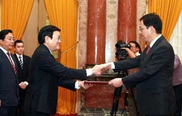 Chủ tịch nước tiếp Đại sứ Ba Lan, Trung Quốc trình quốc thư