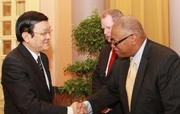 Chủ tịch nước tiếp Phó chủ tịch Tập đoàn Dầu khí Exxon Mobil Hoa Kỳ