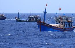 Tàu cá bị tàu Trung Quốc đâm đang được lai dắt về Đà Nẵng