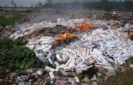 Hà Nội: Bắt giữ gần 4.000 bao thuốc lá lậu