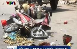 Tiền Giang: Tai nạn liên hoàn làm 8 người thương vong