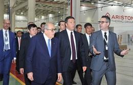 Thủ tướng Italy Matteo Renzi làm việc tại tập đoàn Ariston Bắc Ninh
