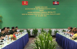 Việt Nam - Campuchia thúc đẩy hợp tác toàn diện về quân sự