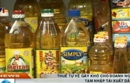 Thuế tự vệ tạm nhập tái xuất dầu ăn khiến DN lo ngại