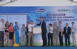 Vinammilk đón nhận Global G.A.P