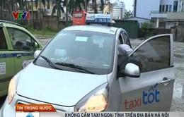 Không cấm taxi ngoại tỉnh hoạt động trên địa bàn Hà Nội
