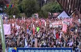 Người dân Israel tuần hành kêu gọi hòa bình với Palestine