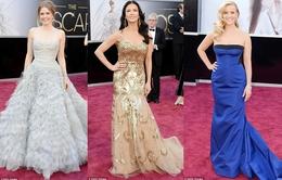 Sao lộng lẫy trên thảm đỏ Oscar 2013