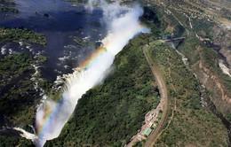 Ngắm tuyệt tác cầu vồng trên thác Victoria