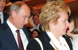 Vợ chồng Tổng thống Nga bất ngờ ly hôn