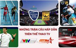 Lịch THTT trên kênh Thể thao TV tuần từ 8-13/10