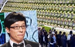 MC quốc dân Yoo Jae Suk lặng lẽ đến tưởng niệm nạn nhân chìm phà Sewol