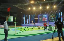 """""""Mưa"""" Green Planet trong đêm khai mạc VCK Robocon Việt Nam 2013"""
