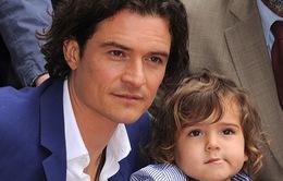 Orlando Bloom nhận Sao danh vọng cùng con trai