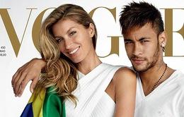 World Cup 2014: Neymar cổ động tinh thần Brazil bên cạnh siêu mẫu