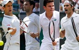 """Bán kết Wimbledon: Khi """"người mới"""" không sợ """"cựu binh"""""""