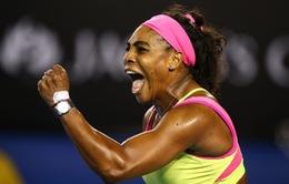 """""""Thổi bay"""" Sharapova, Serena Williams vô địch Úc mở rộng 2015"""