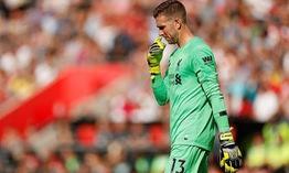 Geoginio Wijnaldum bảo vệ thủ môn Adrian sau màn trình diễn trước Southampton