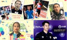 """Đình Trọng, Thuỳ Linh, Nhật Hoàng, Ánh Nguyệt… chúc mừng sinh nhật """"360 độ thể thao"""